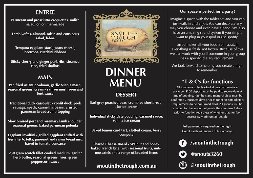 Snout Menu A4 Functions Dinner Menu FINAL web